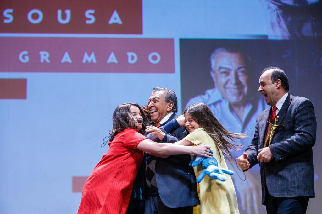 Gramado, RS - 21/08/2019 - 47º Festival de Cinema de Gramado - Mauricio de Sousa recebe o Troféu Cidade de Gramado do Prefeito de Gramado João Alfredo de Castilhos Bertolucci (Fedoca) -